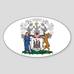 Edinburgh City Coat of Arms Oval Sticker