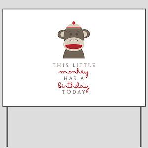 Monkey Birthday Yard Sign
