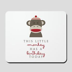 Monkey Birthday Mousepad