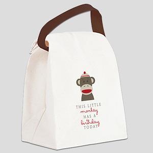 Monkey Birthday Canvas Lunch Bag