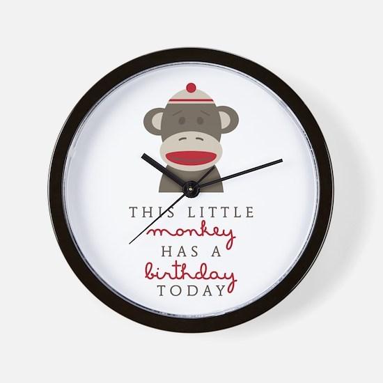 Monkey Birthday Wall Clock