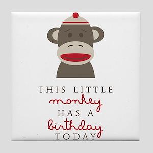 Monkey Birthday Tile Coaster