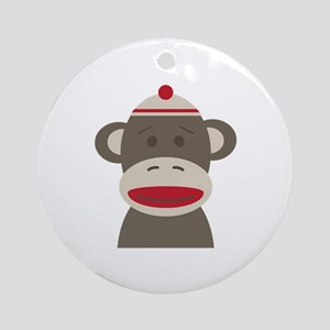 Sock Monkey Ornament (Round)
