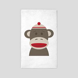 Sock Monkey Area Rug