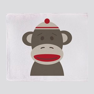 Sock Monkey Throw Blanket