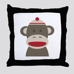 Sock Monkey Throw Pillow