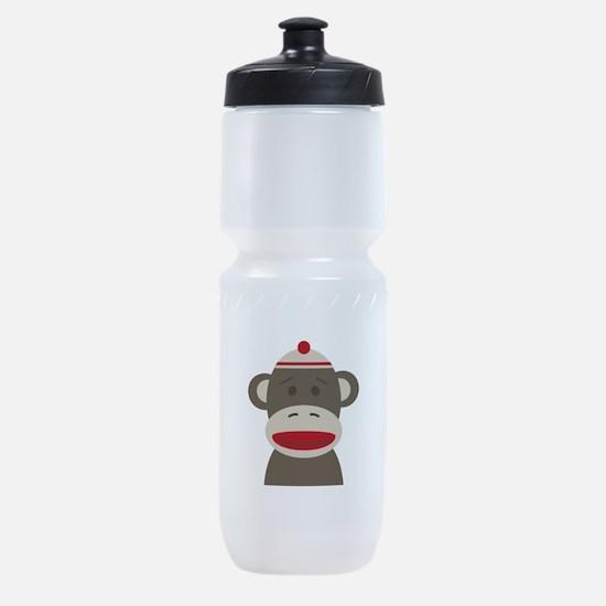 Sock Monkey Sports Bottle