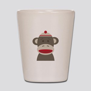 Sock Monkey Shot Glass
