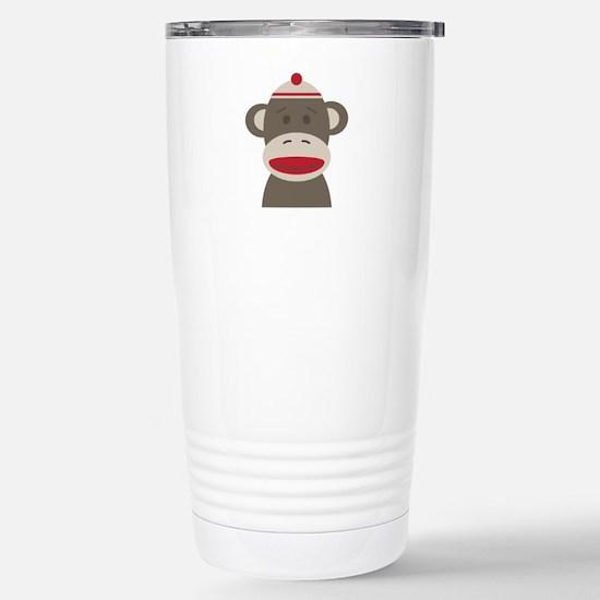 Sock Monkey Travel Mug