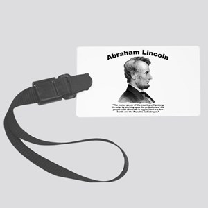 Lincoln: Money Large Luggage Tag