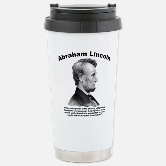 Lincoln: Money Stainless Steel Travel Mug