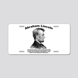 Lincoln: Money Aluminum License Plate