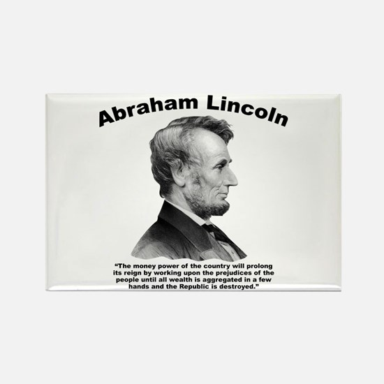 Lincoln: Money Rectangle Magnet