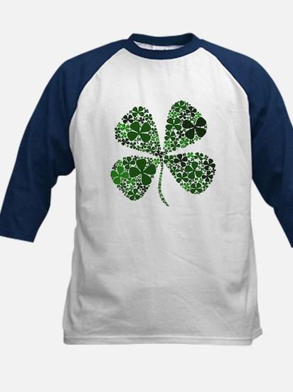 Infinite Luck Four Leaf Clover Kids Baseball Jerse