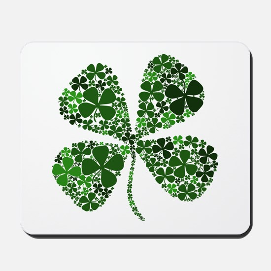 Infinite Luck Four Leaf Clover Mousepad