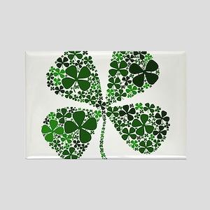 Infinite Luck Four Leaf Clover Rectangle Magnet