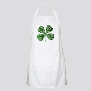 Infinite Luck Four Leaf Clover BBQ Apron