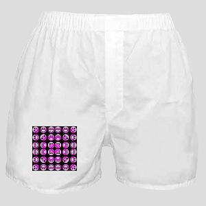 Chronic Pain Emoticons Tiled Boxer Shorts