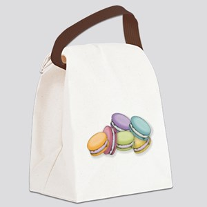 Colorful French Macaron Cookies Canvas Lunch Bag