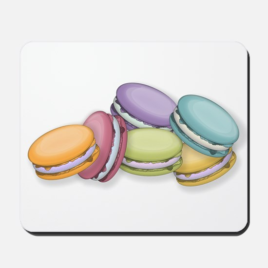 Colorful French Macaron Cookies Mousepad