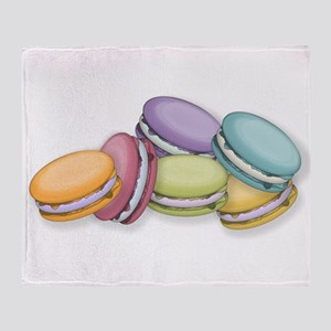 Colorful French Macaron Cookies Throw Blanket