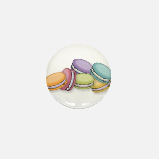 Colorful French Macaron Cookies Mini Button