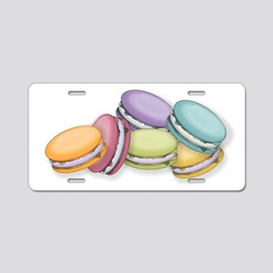 Colorful French Macaron Coo Aluminum License Plate