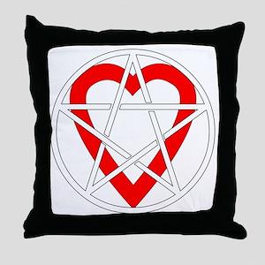 Pagan Heart Throw Pillow