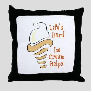 ICE CREAM HELPS Throw Pillow