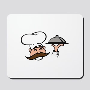 CHEF WITH FOOD Mousepad