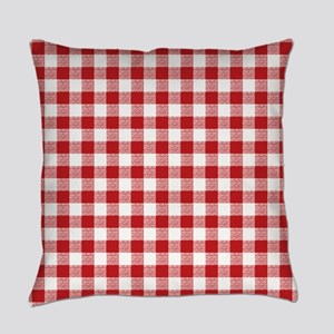 Red Gingham Pattern Master Pillow