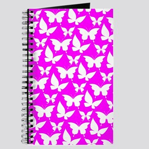 Fuchsia and White Pretty Butterflies Patte Journal