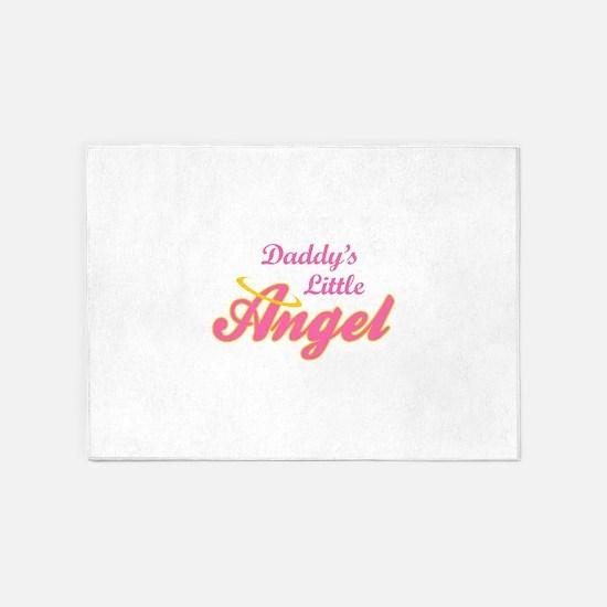 DADDYS LITTLE ANGEL 5'x7'Area Rug
