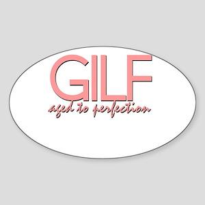 GILF Oval Sticker
