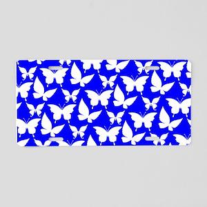 Blue and White Pretty Butte Aluminum License Plate