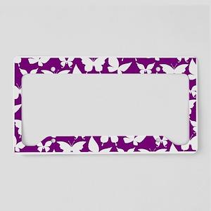 Purple and White Pretty Butte License Plate Holder