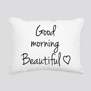 Good morning my love Rectangular Canvas Pillow