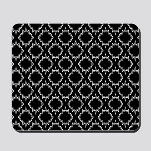 Gothic Black Tile Pattern Mousepad