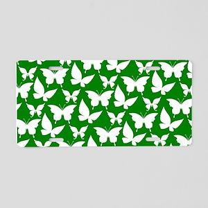 Green and White Pretty Butt Aluminum License Plate