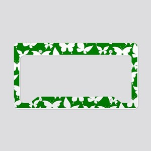 Green and White Pretty Butter License Plate Holder