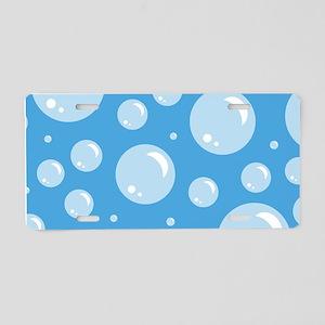 Cute Bubbles Aluminum License Plate
