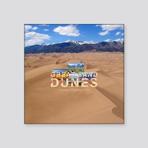 "Great Sand Dunes Square Sticker 3"" x 3"""