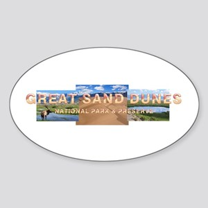 Great Sand Dunes Sticker (Oval)