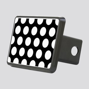 # Black And White Polka Dots Hitch Cover