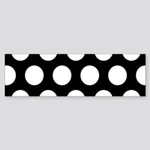 # Black And White Polka Dots Bumper Sticker