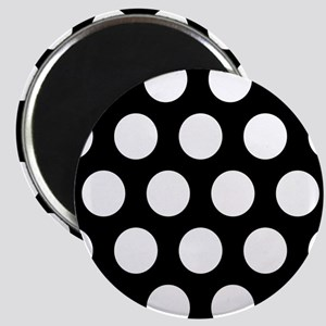 # Black And White Polka Dots Magnets
