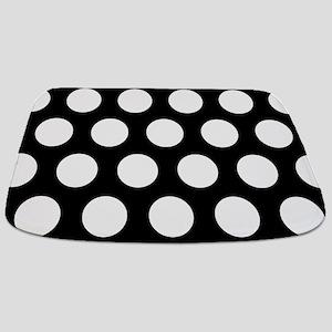# Black And White Polka Dots Bathmat