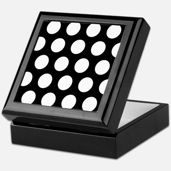 # Black And White Polka Dots Keepsake Box