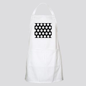 # Black And White Polka Dots Apron