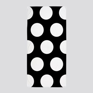 # Black And White Polka Dots Beach Towel
